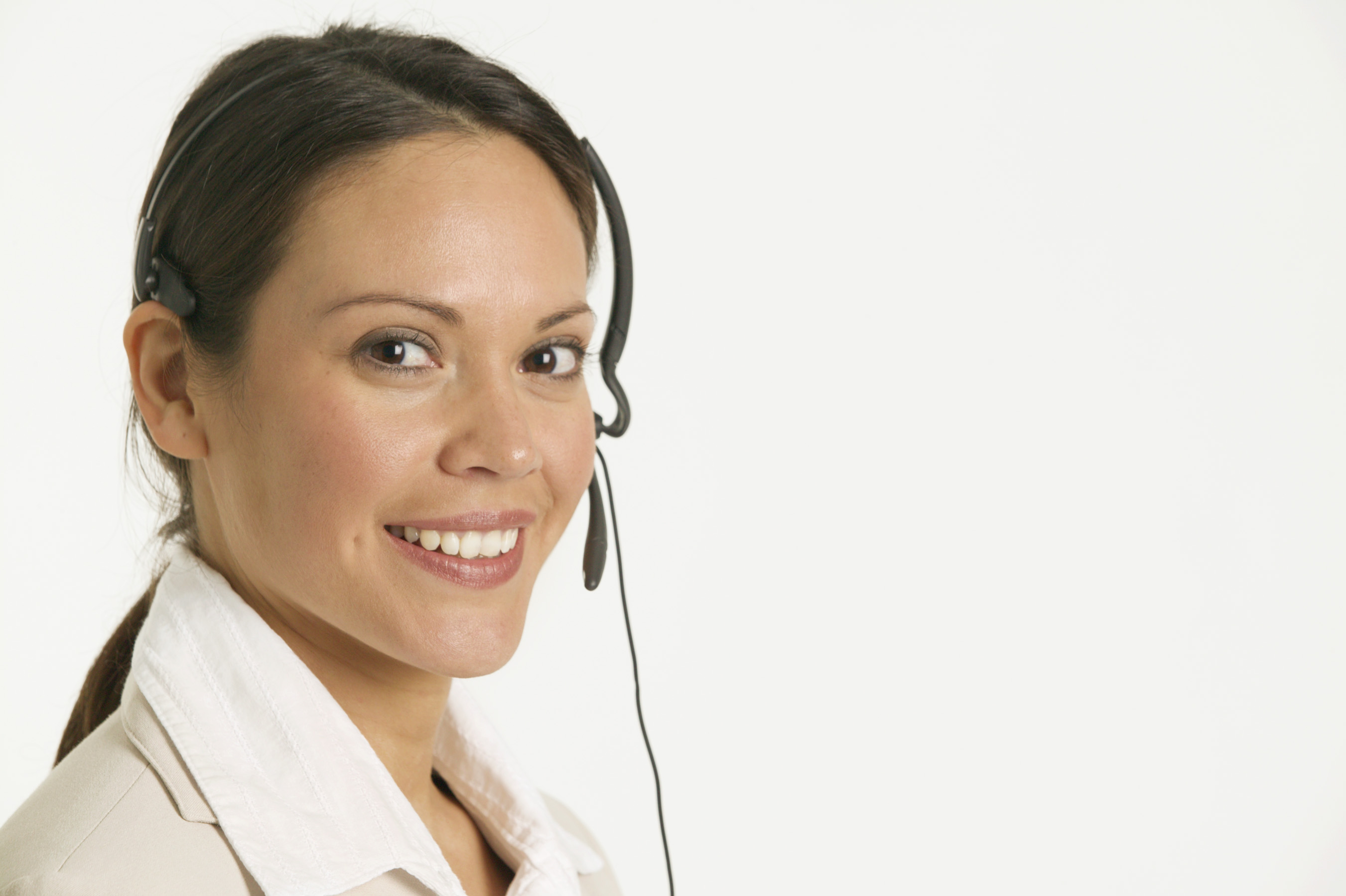 girl on headset